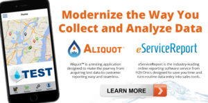 aliquot testing app and online water testing reporting software